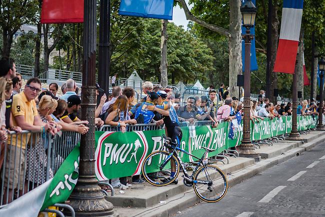 Leopard Konig (CZE) of Team NetApp - Endura in the victory lap, Tour de France, Stage 21: Évry > Paris Champs-Élysées, UCI WorldTour, 2.UWT, Paris Champs-Élysées, France, 27th July 2014, Photo by Pim Nijland