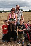 The Murphy Family at the Combines for Charity Guinness Book of World Records Attempt...Photo NEWSFILE/Jenny Matthews.(Photo credit should read Jenny Matthews/NEWSFILE)....This Picture has been sent you under the condtions enclosed by:.Newsfile Ltd..The Studio,.Millmount Abbey,.Drogheda,.Co Meath..Ireland..Tel: +353(0)41-9871240.Fax: +353(0)41-9871260.GSM: +353(0)86-2500958.email: pictures@newsfile.ie.www.newsfile.ie.FTP: 193.120.102.198.