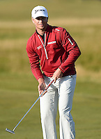 Chris Stroud of USA watches a putt during Round 3 of the 2015 Alfred Dunhill Links Championship at the Old Course, St Andrews, in Fife, Scotland on 3/10/15.<br /> Picture: Richard Martin-Roberts | Golffile