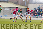 Jack Barry Kerry in action against Barry McHugh Galway in the Allianz Football League Division 1 Round 4 match between Kerry and Galway at Austin Stack Park, Tralee, Co. Kerry.