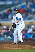 Durham Bulls relief pitcher Andrew Kittredge (39) in action against the Gwinnett Braves at Durham Bulls Athletic Park on April 20, 2019 in Durham, North Carolina. The Bulls defeated the Braves 11-3 in game one of a double-header. (Brian Westerholt/Four Seam Images)