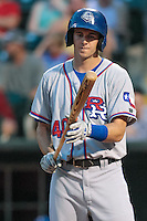 Jared Hoying (40) of the Round Rock Express on deck during the Pacific Coast League game against the Oklahoma City RedHawks at Chickashaw Bricktown Ballpark on June 14, 2013 in Oklahoma City ,Oklahoma.  (William Purnell/Four Seam Images)