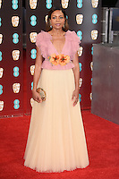 Naomie Harris<br /> at the 2017 BAFTA Film Awards held at The Royal Albert Hall, London.<br /> <br /> <br /> ©Ash Knotek  D3225  12/02/2017