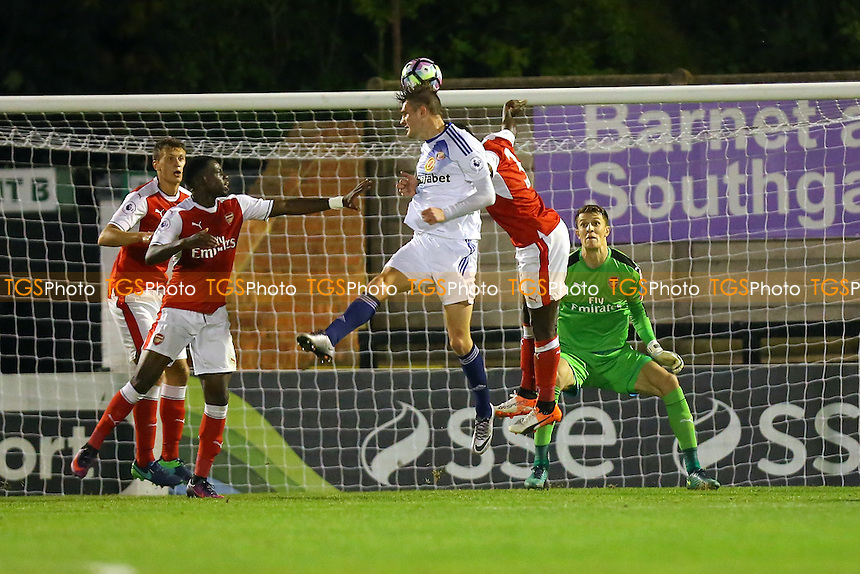 George Brady of Sunderland goes close to a goal during Arsenal Under-23 vs Sunderland AFC Under-23, Premier League 2 Football at Meadow Park, Boreham Wood FC on 28th October 2016
