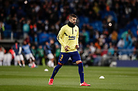 1st March 2020; Estadio Santiago Bernabeu, Madrid, Spain; La Liga Football, Real Madrid versus FC Barcelona; Gerard Pique (FC Barcelona)  Pre-match warm-up