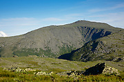 Mount Washington from Caps Ridge Trail in the White Mountains, New Hampshire USA  during the summer months.