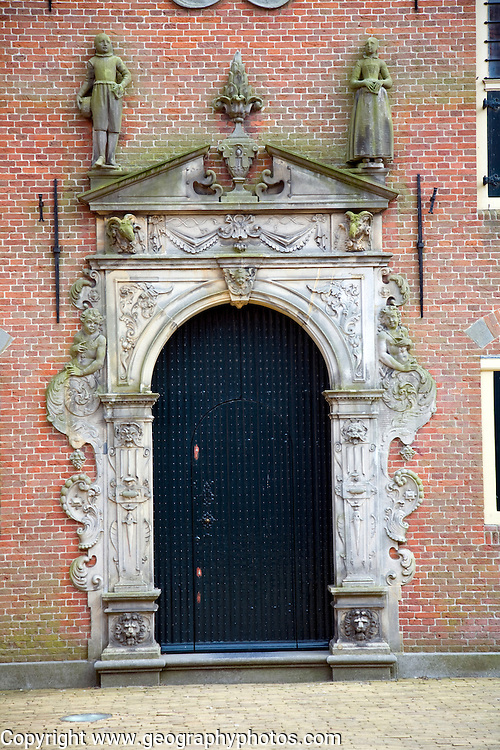 Doorway to Weeshuis orphanage, Enkhuizen, Netherlands