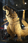 """April 30, 2016, Chiba, Japan - A Godzilla figure for the new movie """"Shin Godzilla"""" is displayed for the promotion of the movie which will be screening in July during the Niconico Chokaigi in Chiba on Saturday, April 30, 2016. Some 150,000 visitors enjoyed over 100 booths including games, hobbies, sports, politics as well as Japan's sub cultures at the two-day offline meeting sponsored by Japan's video sharing website """"Niconico Douga"""".  (Photo by Yoshio Tsunoda/AFLO) LWX -ytd-"""
