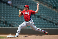 Potomac Nationals starting pitcher Nick Raquet (22) in action against the Winston-Salem Rayados at BB&T Ballpark on August 12, 2018 in Winston-Salem, North Carolina. The Rayados defeated the Nationals 6-3. (Brian Westerholt/Four Seam Images)
