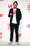 """Rei Matsunuma , Global Marketing Projector of UNIQLO Co., Ltd. attends a special Uniqlo media event to promote the """"UTme!"""" smart phone application on April 28, 2015. The application allows customers to upload their own designs to sell through """"UTme! Market"""". Customers also can select new effects, characters and designs from Coca-Cola, Mottchy the Kakkoii-inu and fashion magazine Non-no. (Photo by Rodrigo Reyes Marin/AFLO)"""