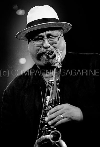 Joe Lovano with the Mc Coy Tyner trio at the Jazz Middelheim festival in Antwerp (Belgium, 12/08/2010)