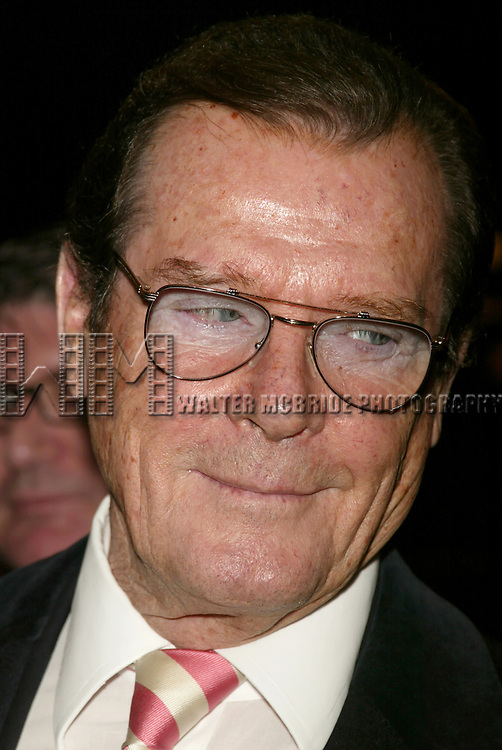 Roger Moore attends the Opening Night Celebration as Whoopi Goldberg returns to Broadway in WHOOPI, the new, updated version of the one-woman show that launched her career. The twelve week limited engagement plays at the Lyceum Theatre in New York City.<br />