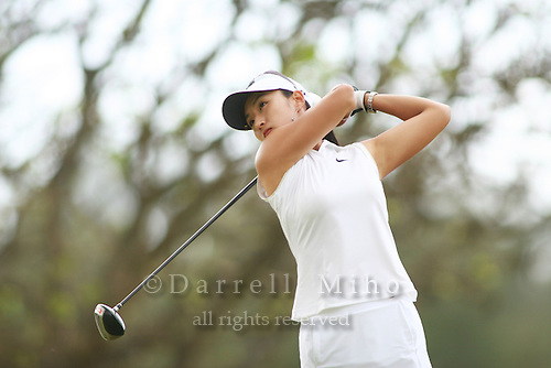 February 17, 2006; Kahuku, HI - Grace Park tees off during round 2 of the LPGA SBS Open at Turtle Bay Resort...Mandatory photo credit: Darrell Miho.© Darrell Miho
