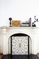 classic marble mantel
