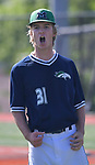 Marquette pitcher Braden Barnard gives out a yell after he striking out a CBC batter for the victory in the Class 5 baseball sectional played at Vianney High School in St. Louis, MO on Wednesday May 22, 2019.<br /> Tim Vizer/Special to STLhighschoolsports.com