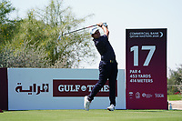 Lars Van Meijel (NED) on the 17th during Round 1 of the Commercial Bank Qatar Masters 2020 at the Education City Golf Club, Doha, Qatar . 05/03/2020<br /> Picture: Golffile | Thos Caffrey<br /> <br /> <br /> All photo usage must carry mandatory copyright credit (© Golffile | Thos Caffrey)