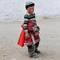 Le petit penseur  (Labrang, Gansu, Chine).