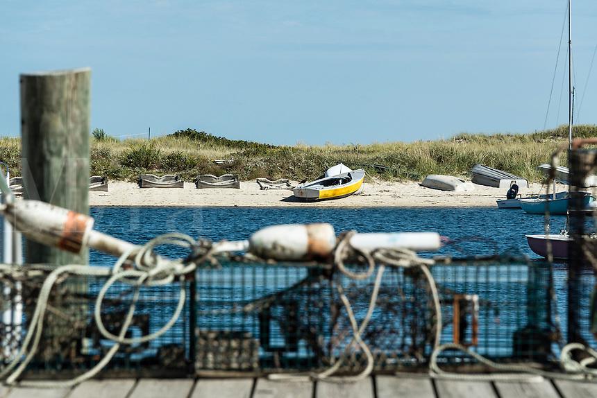 Lobster traps on dock, Oak Bluffs, Martha's Vineyard, Massachusetts, USA