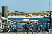 Lobster traps on dock, Oak Bluffs, Martha's Vineyard, Massachusetts, USA