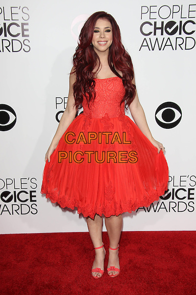 LOS ANGELES, CA - JANUARY 8: Jillian Rose Reed at the 40th Annual People's Choice Awards at the Nokia Theatre in Los Angeles,California on January 8, 2014. <br /> CAP/MPI/JO<br /> &copy;Janice Ogata/MPI/Capital Pictures