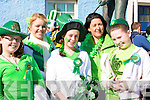 IRISH PRIDE: Wearing the St Patrick's Day colours in Ballybunion on St Patrick's Day were front l-r: Niamh Holly, Maggie Flavin and Molly Purtill. Back l-r: Ellie Hellard and Mary Walsh.