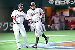 (L to R) .Atsunori Inaba (JPN), .Yoshio Itoi (JPN), .MARCH 3, 2013 - WBC : .2013 World Baseball Classic .1st Round Pool A .between Japan 5-2 China .at Yafuoku Dome, Fukuoka, Japan. .(Photo by YUTAKA/AFLO SPORT)