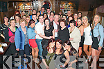 1725-1730.Jacqui Hurley(standing Front centre)Firies,with her hubby Brian wrapped around her celebrated her 30th birthday last Saturday night in the Blasket,Castle St,Tralee with many friends and Family.