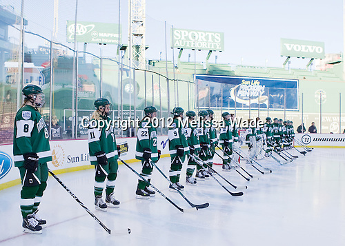 The Dartmouth College Big Green defeated the Providence College Friars 3-2 on Tuesday, January 10, 2012, at Fenway Park in Boston, Massachusetts.
