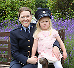 23/7/2015.    Graduating from the Garda College in Templemore this Thursday were Garda Jane Buckley, Tullamore who is stationed at Finglas with her niece Milja(4).<br /> Photograph Liam Burke/Press 22