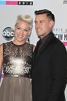 LOS ANGELES, CA - NOVEMBER 18: Pink and Carey Hart at the 40th American Music Awards held at Nokia Theatre L.A. Live on November 18, 2012 in Los Angeles, California. Credit: mpi20/MediaPunch Inc. NortePhoto