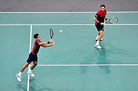 3rd November 2019, AccorHotels Arena, Bercy, Paris, France; Rolex Paris masters Tennis tournament, finals day;  Pierre Hugues Herbert and Nicolas Mahut (Fra) mens doubles final