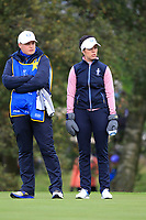 Georgia Hall of Team Europe on the 7th green during Day 2 Foursomes at the Solheim Cup 2019, Gleneagles Golf CLub, Auchterarder, Perthshire, Scotland. 14/09/2019.<br />