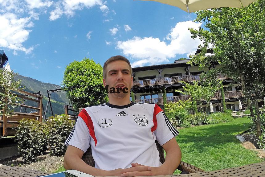 Philipp Lahm beim Media Day im Andreus Golf-Hotel - Media Day der Deutschen Nationalmannschaft zur WM-Vorbereitung in St. Martin