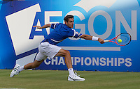 Marin Cilic (CRO) against Nicolas Mahut (FRA) in the second round of the men's singles. ..Tennis - ATP World Tour - AEGON Championships - Queen's Club - London - Day 3 - Wed 09 Jun 2010..© AMN Images - Level 1, Barry House, 20-22 Worple Road, London, SW19 4DH.Tel - +44 (0) 208 947 0100.email - mfrey@advantagemedianet.com. www.photoshelter.com/c/amnimages.