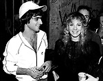 Stevie Nicks 1981 with Jimmy Iovine at backstage at Heart show at Whisky in Hollywood.<br /> &copy; Chris Walter