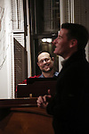 Matthew Sklar and Chad Beguelin attend the Dramatists Guild Fund Salon with Matthew Sklar and Chad Beguelin at the home of Gretchen Cryer on December 8, 2016 in New York City.