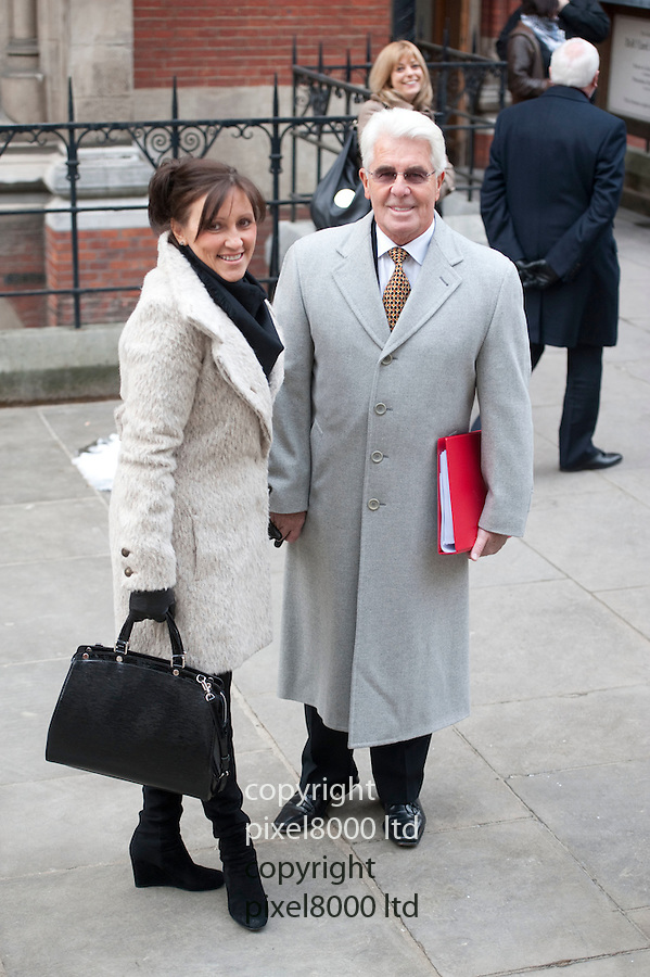 Max Clifford publicist arrives Leveson Inquiry with his wife Jo Westwood.9.2.12...Pic by Gavin Rodgers/Pixel 8000 Ltd