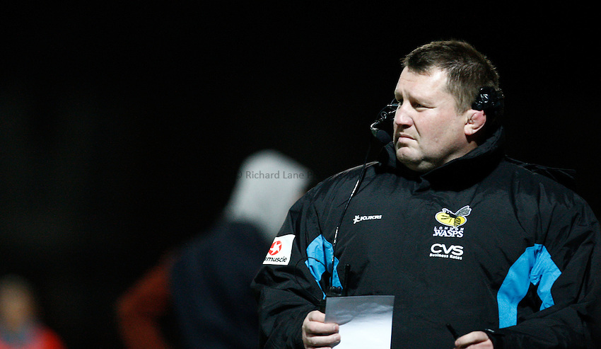 Photo: Richard Lane/Richard Lane Photography. Gloucester Rugby v London Wasps. Aviva Premiership. 02/11/2013 Wasps' Director of Rugby, Dai Young.