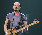 Sting performs on his Back To Bass Tour at the Tower Theatre in Upper Darby (Philadelphia) Pennsylvania October 26, 2011..Copyright EML/Rockinexposures.com.