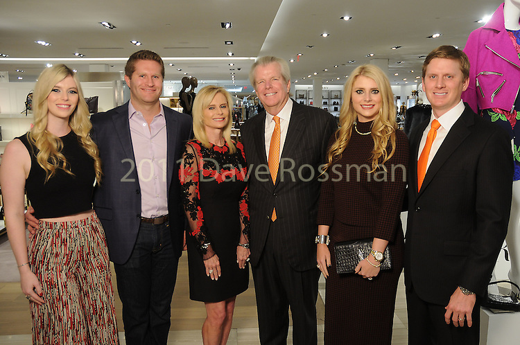 From left: Evan Scheele, Kimberly Falgout, Jo Lynn Falgout, Gregg Falgout, Christine Falgout and Bill Gutknecht at the Saks Fifth Avenue Key to the Cure Wednesday Oct. 26,2016.(Dave Rossman photo)