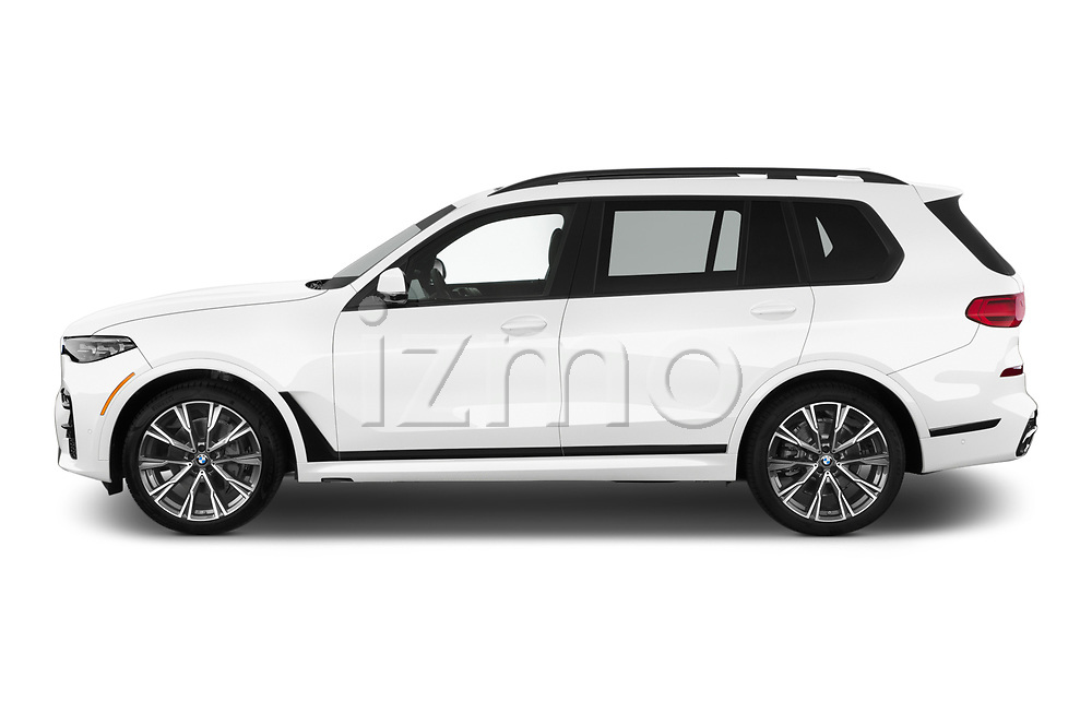Car driver side profile view of a 2019 BMW X7 40i 5 Door SUV