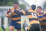 Poali Taula makes a strong run upfield. Counties Manukau Premier Club Rugby game between Patumahoe and Bombay played at the Patumahoe Domain on Saturday June 4th 2011 as part of the Patumahoe 125th Anniversary celebrations. Patumahoe won 24 - 3 after leading 5 - 3 at halftime.