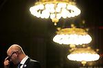 © Joel Goodman - 07973 332324 . 23/06/2016 . Manchester , UK . UKIP deputy leader PAUL NUTTAL MEP , at the declaration in The Great Hall , in the EU referendum at Manchester Town Hall . Photo credit : Joel Goodman