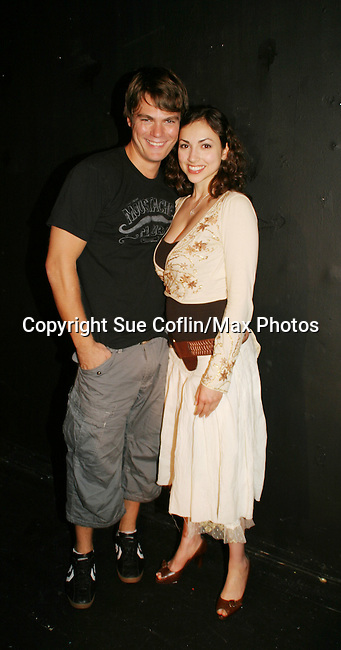 "AMC's Jeff Branson is joined by Eden Riegel ""Bianca Montgomery"" as Jeff stars in the play My Life As You.  My Life As You on September 14 to 24, 2006 at the Producers Club II, NYC. (Photos by Sue Coflin/Max Photo)"