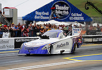 Jun. 17, 2011; Bristol, TN, USA: NHRA funny car driver Melanie Troxel during qualifying for the Thunder Valley Nationals at Bristol Dragway. Mandatory Credit: Mark J. Rebilas-
