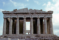 Athens: The Parthenon--elevation. Photo '82.