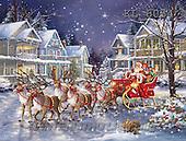 Interlitho, CHRISTMAS SANTA, SNOWMAN, WEIHNACHTSMÄNNER, SCHNEEMÄNNER, PAPÁ NOEL, MUÑECOS DE NIEVE, austauschen, paintings+++++,santa,sleigh,KL6034,#x#
