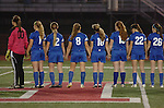 Warrior Run High School girls line up during introductions