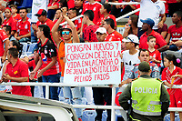 CALI - COLOMBIA, 07-04-2018: Hinchas del América reclaman a su equipo durante el partido entre América Cali y Boyaca Chico por la fecha 13 de la Liga Águila I 2018 jugado en el estadio Pascual Guerrero de la ciudad de Cali. / Fans of America claim to their team during the match between America Cali and Boyaca Chico for the date 13 of the Aguila League I 2018 played at Pascual Guerrero stadium in Cali. Photo: VizzorImage / Nelson Rios / Cont