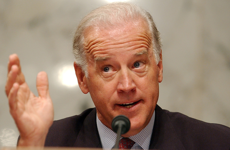 Sen. Joe Biden, D-Del., questions Alberto Gonzales during a hearing of the Senate Judiciary Committee, on his nomination for U.S. Attorney General.